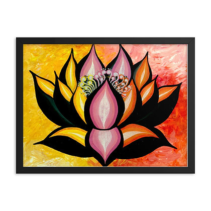 Yellow Lotus by Flower Bomb FRAMED