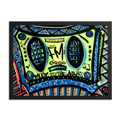 Music Is The Answer by Jason Perez FRAMED