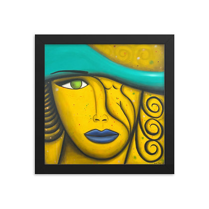 Yellow Woman by Michael Perez FRAMED