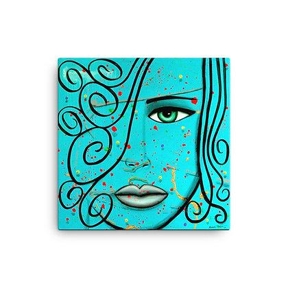 Blue Swirl by Michael Perez CANVAS PRINT