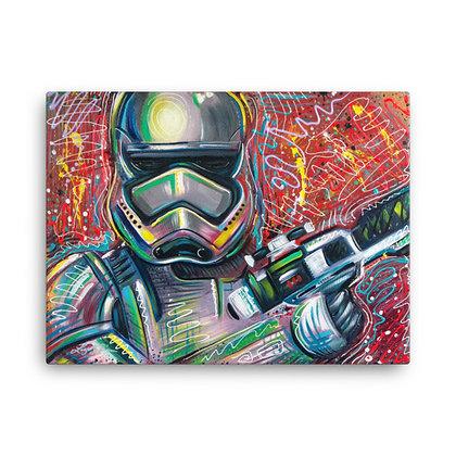 Storm Trooper by Laz Rivera CANVAS PRINT