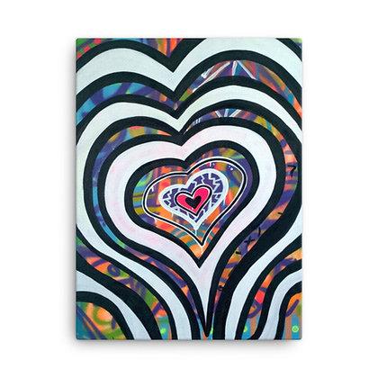 Love x7 by Jason Perez CANVAS PRINT