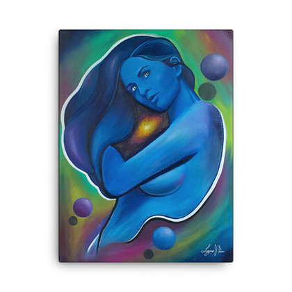 Galaxy Girl by Laz Rivera CANVAS PRINT
