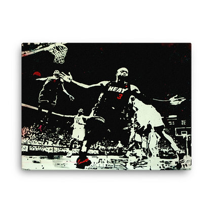 D Wade & Lebron James by John D'Olimpio CANVAS PRINT