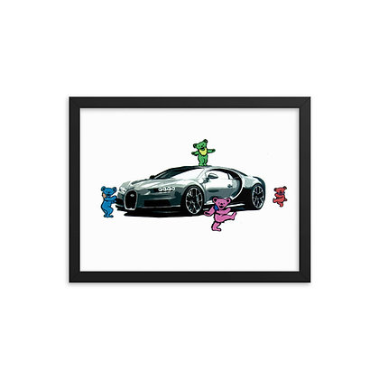 Bugatti Bears by River Kerns FRAMED
