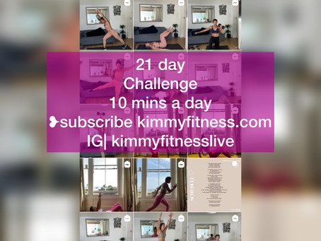 21 day fitness challenge to form a healthy habit. 10 minute workouts