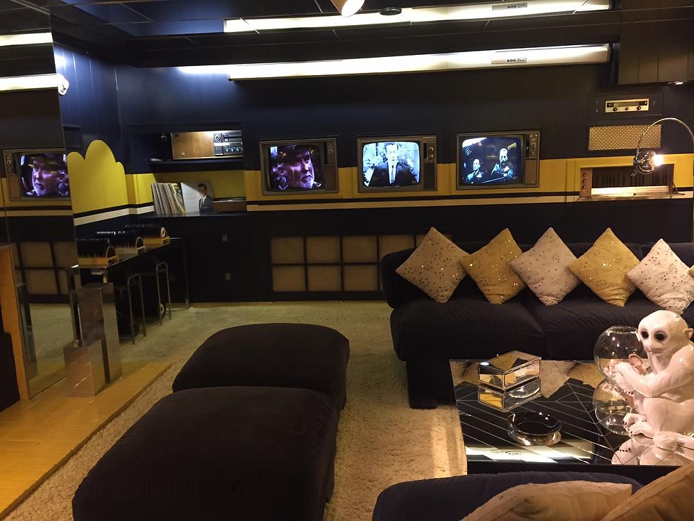 Elvis's TV & Entertainment Room in Graceland