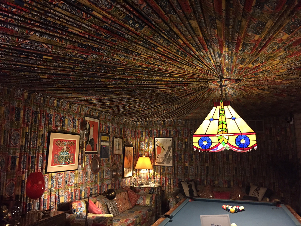 Elvis's Fabric-Covered Room in Graceland