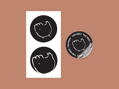 "3er Pack Sticker ""Feder-Popo"""