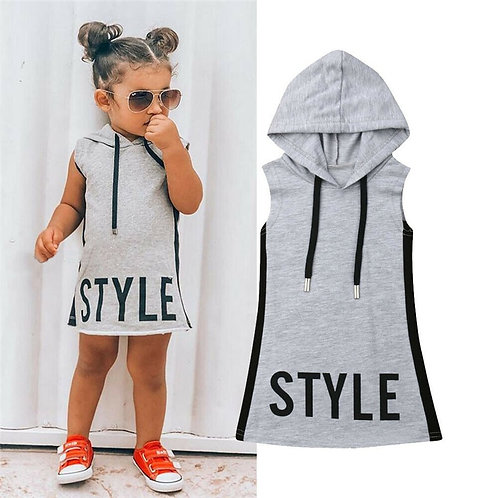 Hooded Tunic-Style Dress for Kids