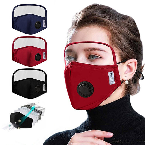 Protective Cotton Face Mask Integrated With Goggles and Air Vent