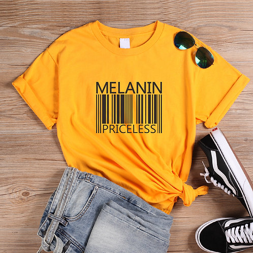 Melanin Priceless Barcode Graphic T-shirt
