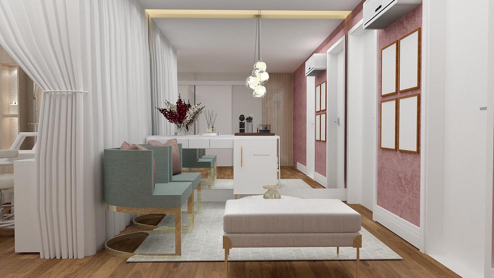 Recepção de estética por Spazzio Design