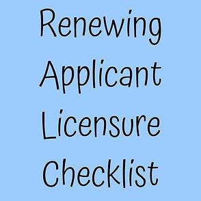 Renewing Applicant Licensure Checklist.p