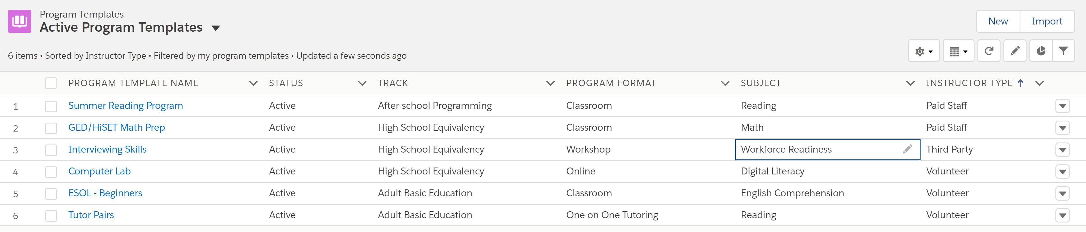 5 Active Programs