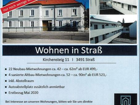 Freie Wohnungen in Straß im Straßertale