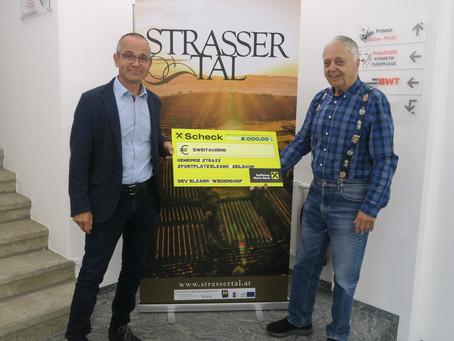 Spendenübergabe des Dorferneuerungsvereins Elsarn-Wiedendorf