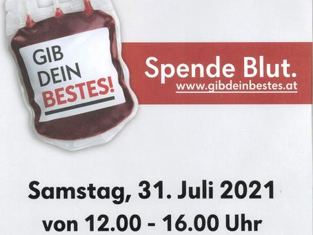 Blutspenden in der Volksschule Straß am 31.07.2021