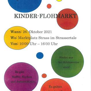 Kinder-Flohmarkt am Straßer Marktplatz am 26.10.2021