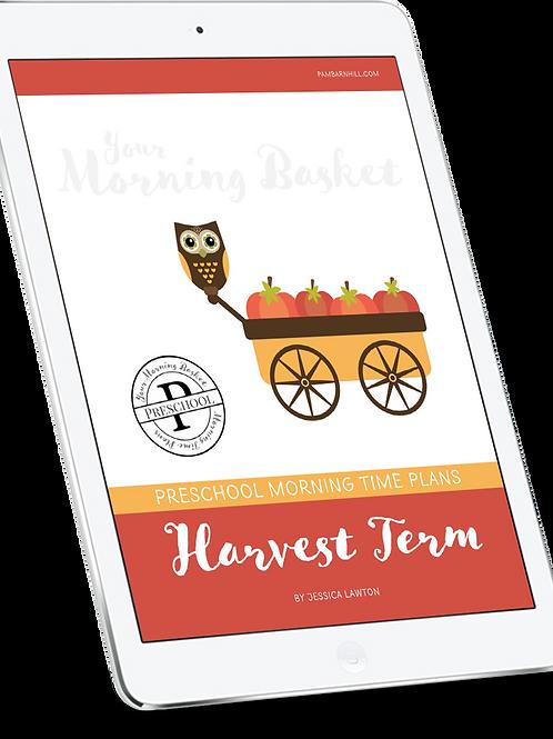 Harvest Term: Preschool Morning Time Plans