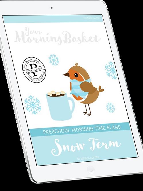 Snow Term: Preschool Morning Time Plans