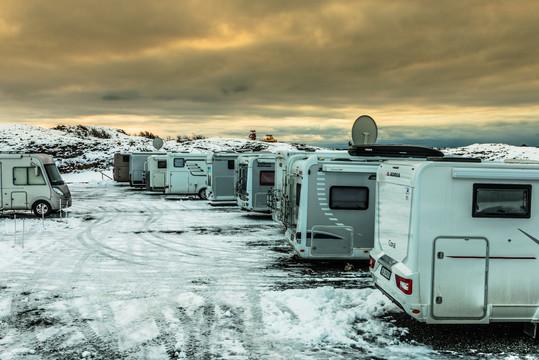 Camping og snø