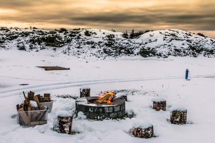 Gruekos på Haraldshaugen Camping