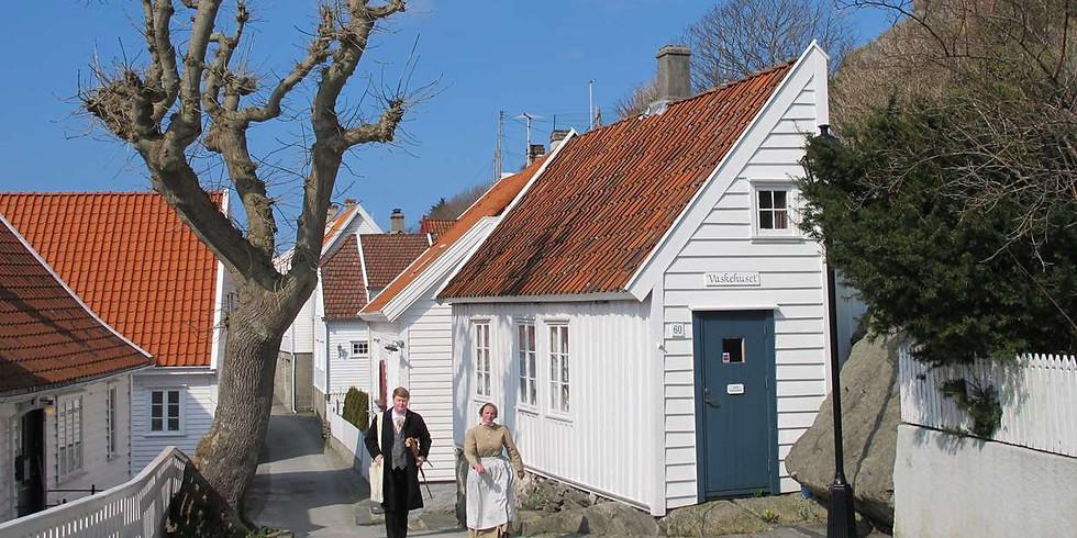Byvandring med teatervri i Skudeneshavn