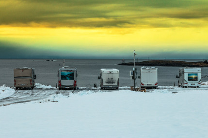 Vinter camping i Haugesund