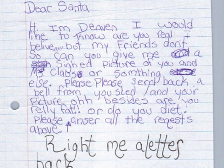 Share Your Kids' Hilarious Letters To Santa