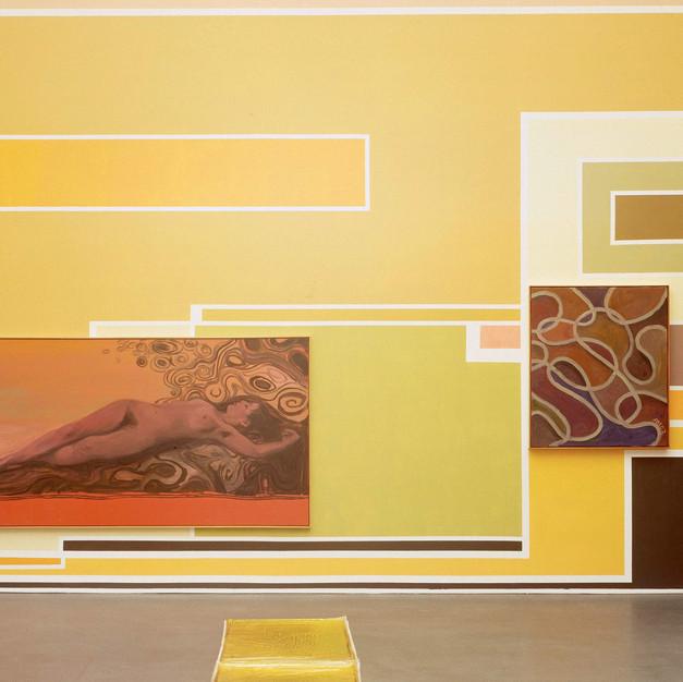 """2003 """"Interieur No. 206"""" in """"Ziemlich schöne Malereien"""", Kunstmuseum Luzern"""