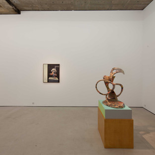 """2014 """"9 hypertroph-kontemplative Ölmalereien und eine sportliche Skulptur"""", Loock Galerie, Berlin"""