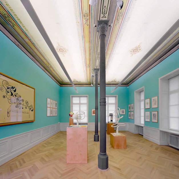"""2007 """" [...] und immer eine gute Linie. Anton Henning. Zeichnungen und Skulpturen 1984-2007"""", Arp Museum, Bahnhof Rolandseck, Remagen"""
