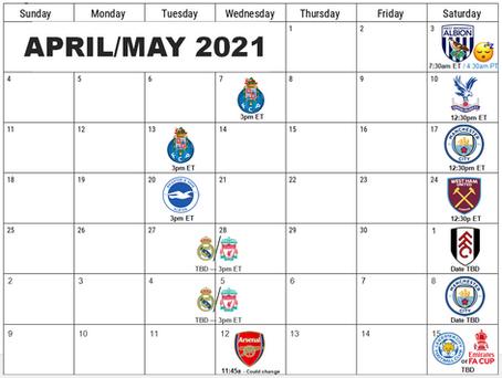 Six Weeks.. Clear The Calendar