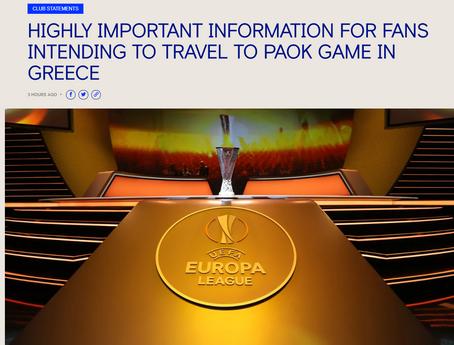 POAK Europa Away Tickets Update