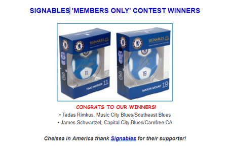 'Signables' Contest Winners