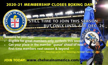 20-21 Membership Closes Boxing Day