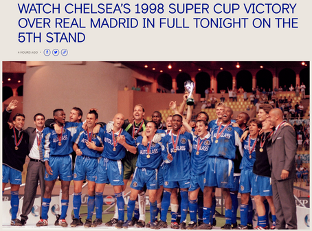 VirusTV on Chelsea 5th Stand Today (4pm ET); Join Your Groups