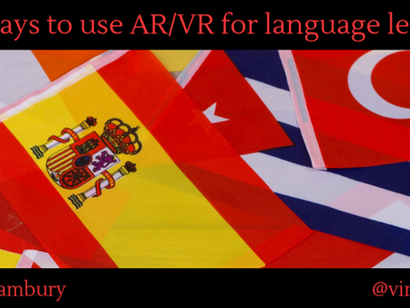Five ways to use AR/VR for language learning