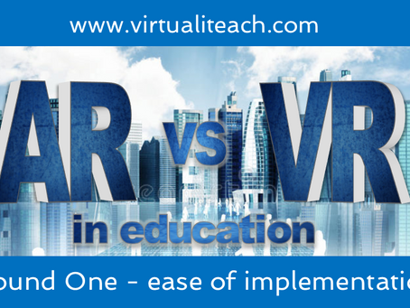 AR vs VR in Education: Round 1