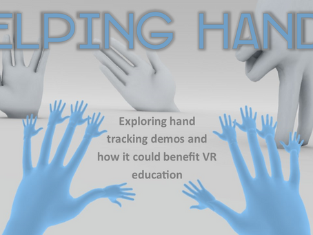 Helping Hands - hand tracking in education