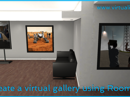 Create a virtual gallery using Roomful