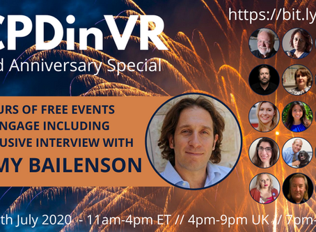 The #CPDinVR 3rd Anniversary