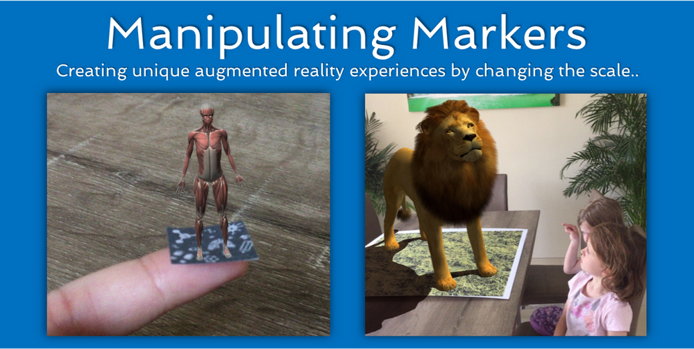 Manipulating Markers: changing the scale of AR