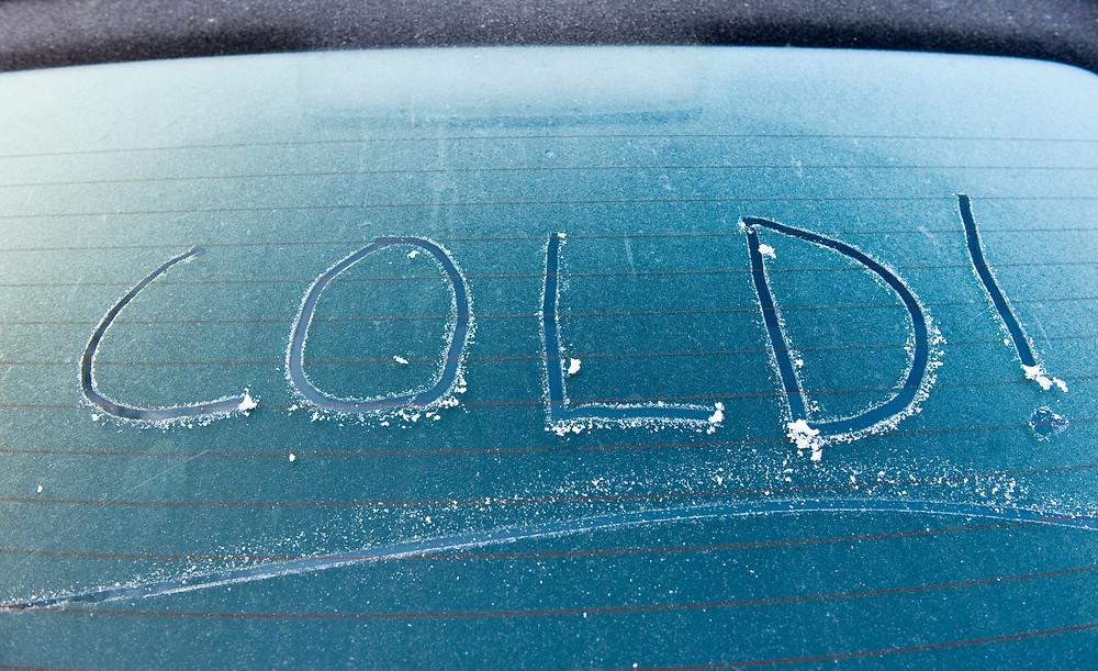 Cold Frozen Car Window