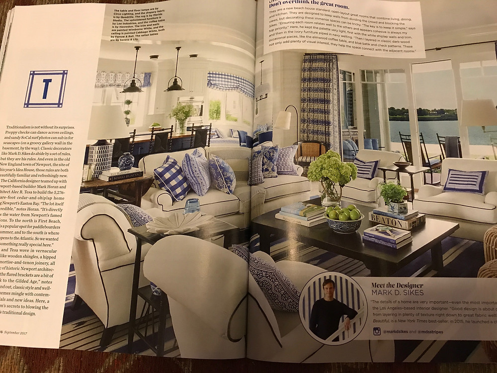 Coastal Living, September 2017, pp. 66-67.