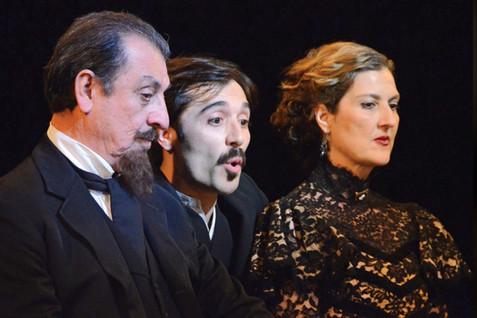 Hamlet at the Asolo Repertory Theatre, with Emilio Delgado as Claudius and Frankie Alvarez as Hamlet