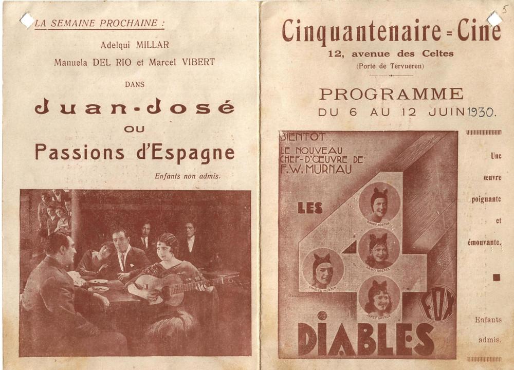 Un programme de juin 1930