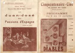 Programme cinéma CINQUANTENAIRE 1930