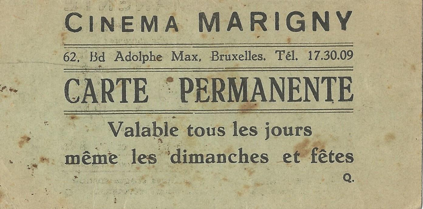 Carte permanente cinéma MARIGNY